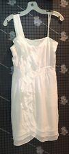 WHITE DRESS BCBG MAX AZRIA $385 1 SHOULDER Women's White Party SIZE 0