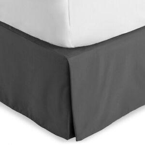 Premium Microfiber Bed Skirt 15 Inch Tailored Drop Dust Ruffle