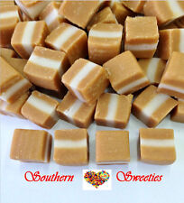 JERSEY CARAMELS 1kg white & caramel lollies vintage candy buffets caramels bulk