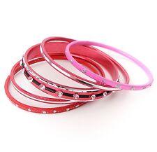 Neu 5 ARMREIFEN im SET in pink/rot/rosa/silber STRASSSTEINE rosa ARMREIF Blogger