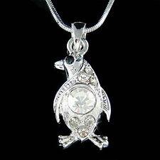 w Swarovski Crystal Antarctica Galápagos ~Penguin~~ Pendant Charm Chain Necklace