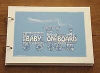 Alternative record signing handmade baby boy guest book