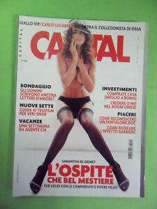 CAPITAL N° 10. 2003. SAMANTHA DE GRENET. CLAUDIA GERINI