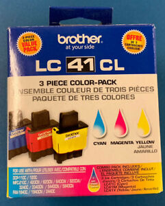 Genuine Brother LC41Y LC41M Ink Cartridges LC41C Cyan Yellow Magenta Expired