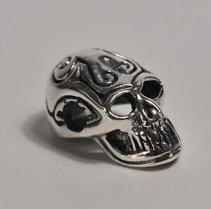 Heavy Silver 925 Skull Pendant Charm Steam Punk Gothic