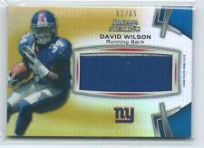 2012 Bowman Sterling David Wilson GOLD REFRACTOR PRIME PATCH RELIC RC 63/65
