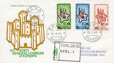 Repubblica Italiana 1964 FDC Venetia Club Comuni d'Europa Racc.