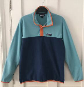 PATAGONIA SYNCHILLA SNAP-T FLEECE PULLOVER WOMENS SIZE SMALL - BLUE & NAVY