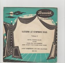 "Louis Armstrong- Satchmo At Symphony Hall Vol.3 UK 7"" vinyl EP."