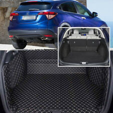 PU Leather Rear Trunk Cover Cargo Mats Seat Back Protector Carpets For Honda HRV