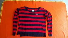 HOLLISTER CALIFORNIA WOMEN'S LONG SLEEVED TOP SIZE L, STRIPED SUPER CONDITION
