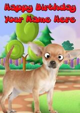 Chihuahua Googly Eyes Birthday Card PIDE1   A5 Personalised Greeting dog