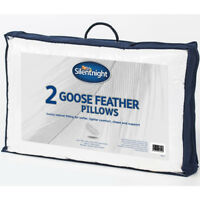 Silentnight Luxury Goose Feather Pillow With Soft Pure Cotton Cover - 2 Pack