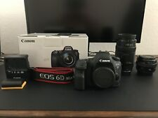 Canon EOS 6D Mark II 26.2MP Digital SLR Camera - Black  with TWO Canon lenses