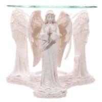 Duftlampe 3 Engel betend weiß Engelsfigur Aromalampe Duftöl-Lampe Teelichthalter