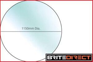 Circular 1150 Glass Hearth Floor Plate Multifuel Wood Burning Stoves 12mm