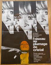 Affiche de cinéma : L'OISEAU AU PLUMAGE DE CRISTAL de DARIO ARGENTO