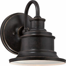 """Quoizel Seaford 8.5"""" Small Outdoor CFL Wall Lantern Imperial Bronze SFD8407IBFL"""