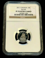 2011 Canada 10¢ (Ten Cents) Proof Silver Coin • NGC PF70 Ultra Cameo