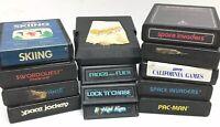Lot Of 13 Atari 2600 Games Pac Man, Q-bert, Space Invaders, Kool-Aid Man&Pinball