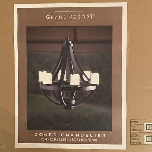 Grand Resort Domed Indoor/Outdoor Chandelier 841057103166 Battery Operated NEW
