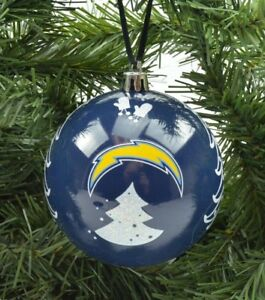 """LA Los Angeles San Diego Chargers NFL 3"""" Plastic Christmas Holiday Ornament"""