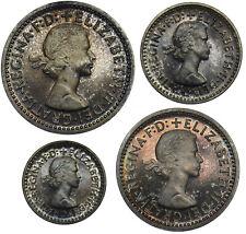 More details for 1965 maundy set (w/ original case) - elizabeth ii british silver coins - superb