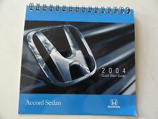 2004 Honda Accord Sedan Quick Reference Guide  Owners Manual Supplement