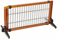 Carlson Pet Products 2-in-1 Extra Wide Free Standing Pet Gate, Premium Wood , Ne