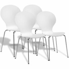 2/4/6x Esszimmerstuhl Küchenstuhl Sitzgruppe Stühle Design Stapelstuhl stapelbar