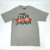 """Shady Ltd T-Shirt Mens Size L """"Make The Ends Justify The Means"""" Short Sleeve Tee"""