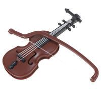 1/12 Dolls House Miniature Plastic Violin Music Instrument Model AccessoriesDAD