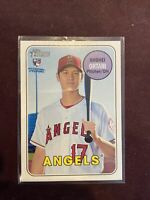 2018 Topps Heritage High SHOHEI OHTANI RC Rookie Los Angeles Angels #600 Qty