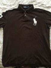 Genuine Ralph Lauren Long Sleeve Polo Shirt, Brown Size L