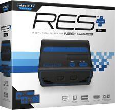 Retro-Bit RES Plus HD Konsole NES HDMI + 2 Controller PAL 720p AV NEU RES+