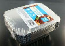 MORRISONS SUPERMARKET FOIL TRAYS & LIDS X 14 OVEN SAFE FREEZE SAFE ALL FOODS NEW