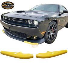 Fits 15-21 Dodge Challenger Scat Pack Front Bumper Lip Splitter Guard Cover