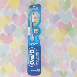 ORAL-B Crossaction Vitalizer Manual Toothbrush SOFT Bristles Blue NEW (mci