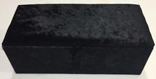 LARGE BLACK CRUSHED VELVET OTTOMAN TOYS STORAGE, FOOTSTOOL, OTTOMAN BOX