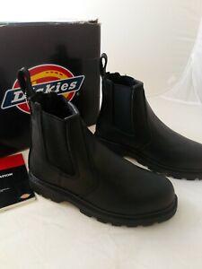 Dickies Fife Safety Leather Dealer Boot, Steel Toe, Model FD9214, Size UK 6
