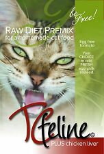 TCfeline RAW Cat Food Premix for Homemade, Natural, Grain Free Diet - ChickenReg