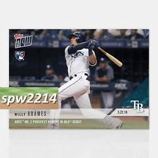2018 Topps Now Willy Adames #240 Rays Prospect Homers in MLB Debut