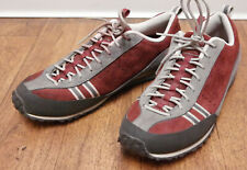 North Face A5 Womens Suede Hiking Shoes Red Grey Size 9.5