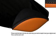 Negro Y Naranja personalizado se adapta a Honda Cbr 1000 Rr 08-12 Fireblade Cuero almohadilla cubierta