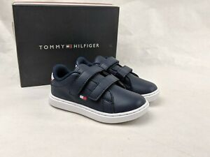 Tommy Hilfiger Toddler Kid's Iconic Court Alt Shoes TH100020T Hook and Loop Navy