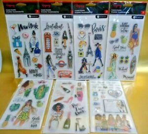 Hampton Art Rongrong Clear Stamps 7 packs 88pcs Scrapbook Planner Summer Travel