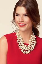 Stella And Dot Sofia Pearl Bib Necklace Gorgeous Rare