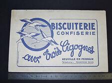 BUVARD 1950 BISCUITERIE CONFISERIE AUX 3 CIGOGNES NEUVILLE-EN-FERRAIN