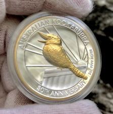2020 Australia Kookaburra 2 oz Silver Gilded High Relief Proof Coin 1,000 Minted