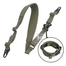 Krydex Modular Sling 2 / 1 Point Padded Shooting Sling Removable Ranger Green
